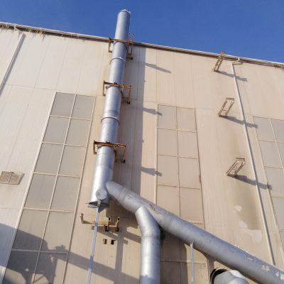 Дымовая труба для удаления дымовых газов технологического оборудования